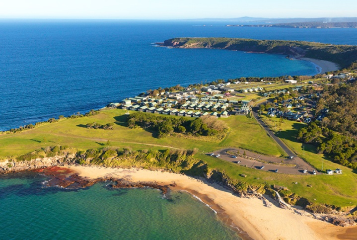 Best beach camping NSW, Australia. Merimbula Beach Resort and Caravan Park. Photo: NRMA