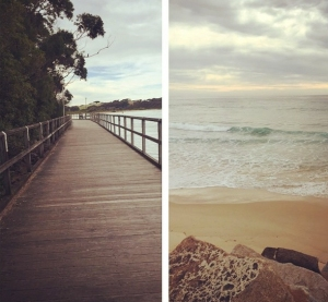 The board walk and beach at Narooma. Photo: JayMaher94