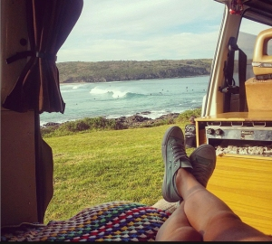 View of Killalea Beach from campervan. Photo: TheSeaWillHaveHerWay