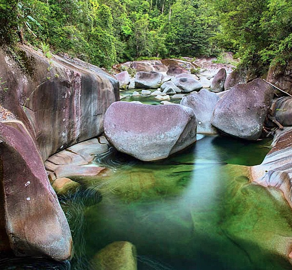 Babinda Boulders swimming hole. Photo: _MattPetersOz