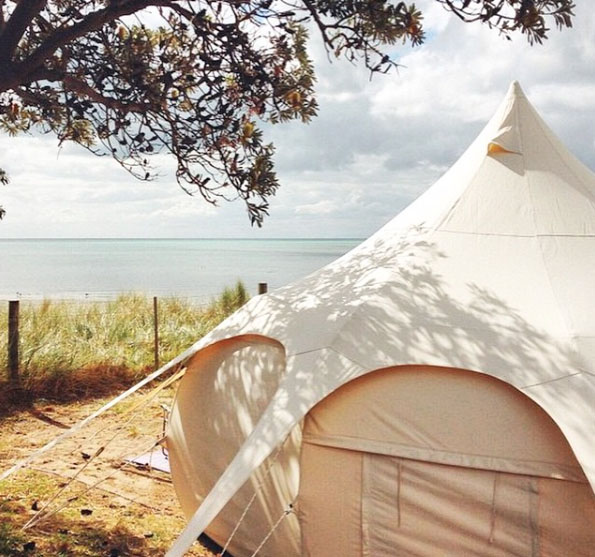Camping by the beach. Mornington Peninsula, Victoria, Australia. Photo: Aisha_Jade