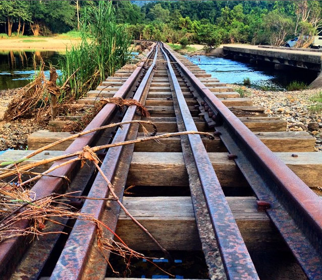 The old sugar can train bridge over the Mulgrave River, Ross and Locke Park, near Cairns. Photo: CarmenBeastrom