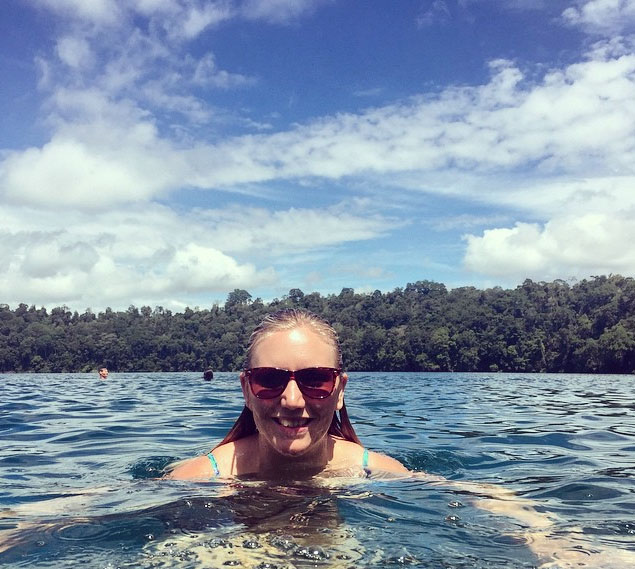 Cooling off in Lake Eachem near Cairns. Photo: CourtneyArmitage