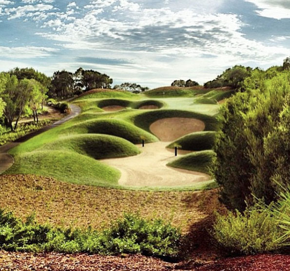 Eagle Ridge Golf Course near Mornington Hot Springs, Mornington Peninsula.  Victoria, Australia. Photo: EagleRidgeGolf