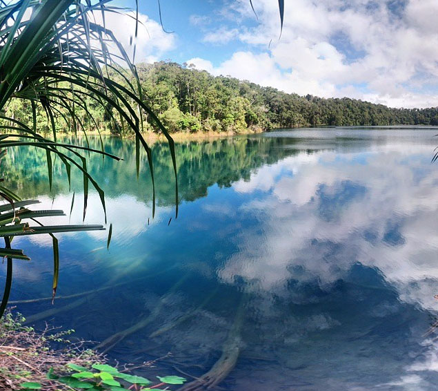 Lake Eachem crater lake near Cairns. Photo: iamomgaz