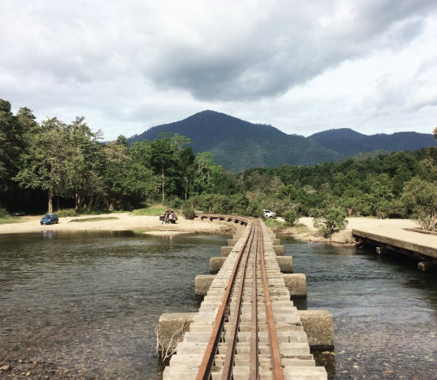Old cane train bridge at Ross and Locke Park near Cairns. Photo: JessicaEVD