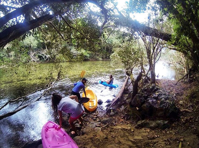 Kayakinghe Mulgrave River near Cairns. Photo: MeegggggieNolan