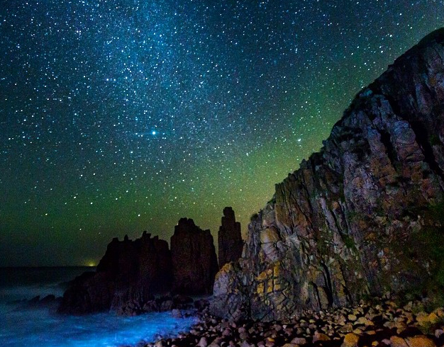 Night sky at the pinnacles, Phillip Island, Victoria, Australia. Photo: Cutback