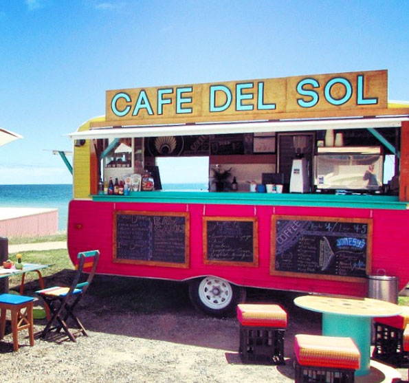 Cafe Del Sol, Safety Beach, Dromana. Mornington Peninsula, Victoria, Australia. Photo: CafeDelSolCaravan