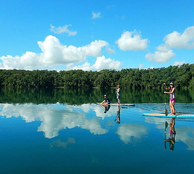 Lake Eachem crater lake near cairns. Photo: SupMate_Cairns