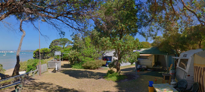 Camerons Bight Camp Ground, Mornington Peninsula. Photo: Whitecliffs.com.au