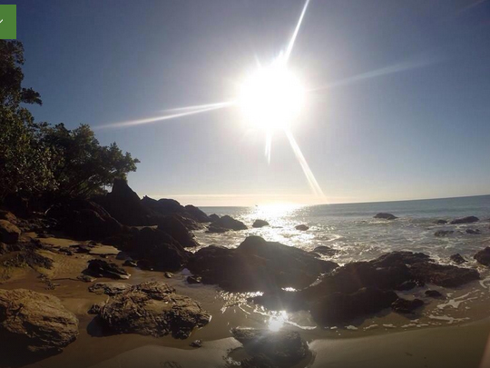 The beach at Etty bay Caravan Park, Queensland, Australia. Photo: Trip Advisor