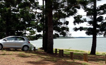 Platypus Campground on Lake Tinaroo, Atherton Tablelands, Queensland, Australia.