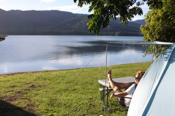 Fong On Bay camping area, Lake TInaroo, Atherton Tablelands, Queensland, Australia. Photo RedBullDust.blogspot.com