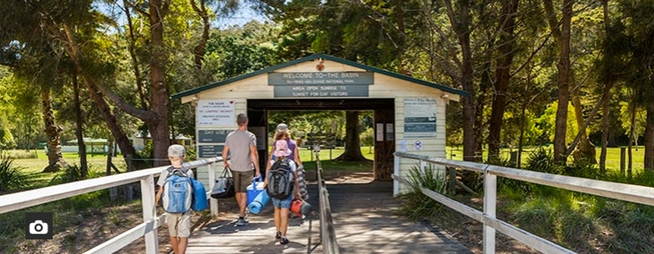 Beach Camping Sydney. The Basin Campground, Ku-ring-gai Chase National Park. Photo: National Parks NSW