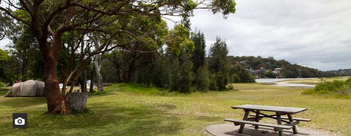 Bonnie Vale campground, Royal National Park. Photo: National Parks NSW