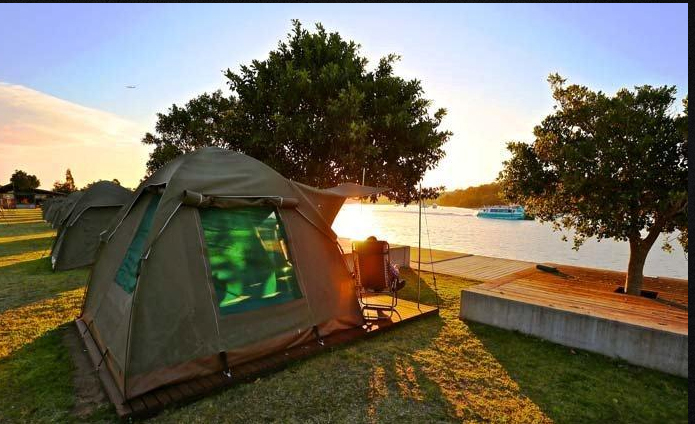 Camping on Sydney Harbour. Cockatoo Island. Photo: Sydney Harbour Federation Trust