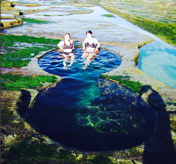 Best beach camping NSW, Australia. Royal National Park figure 8 rock pools. Photo: MissHippieChick