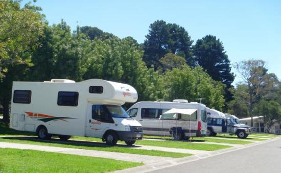 Katoomba Falls Caravan Park powered site. Camping Blue Mountains.