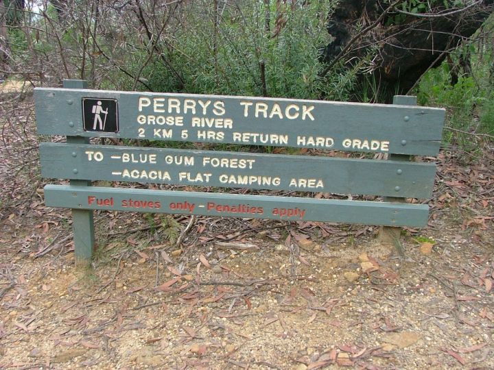 Perrys Track from Perrys Lookdown campground. Free camping Blue Mountains