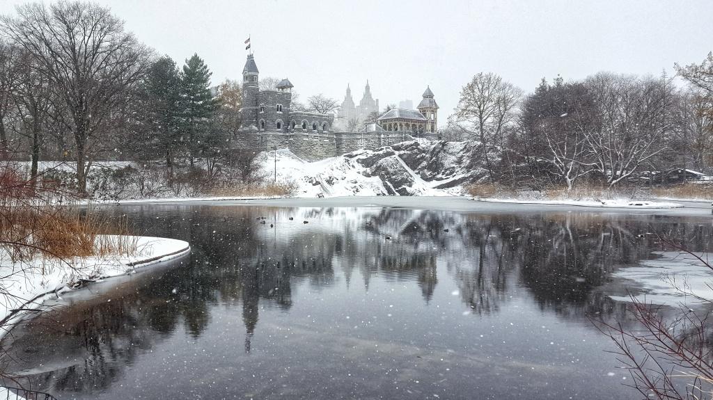 Belvedere Castle, Central Park, New York Snow